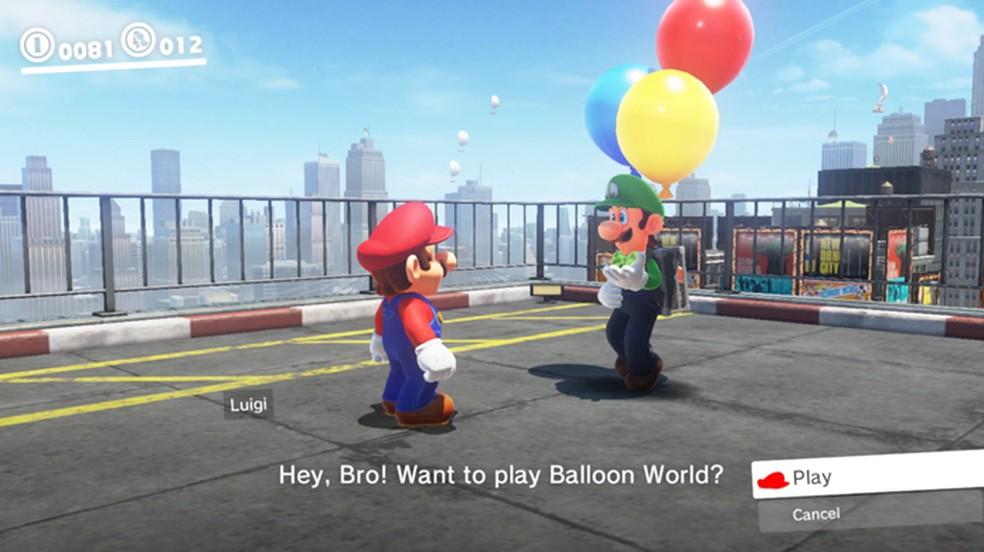 Novo modo Luigi's Balloon World chegará em fevereiro para Super Mario Odyssey no Nintendo Switch (Foto: Reprodução/YouTube)