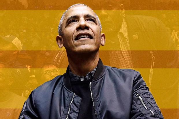 Barack Obama roubou a cena no jogo entre Duke University e North Carolina. (Foto: reprodução / instagram )