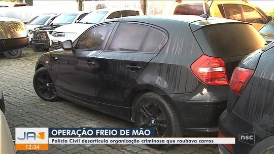Polícia Civil em Joinville deflagra operação contra roubo de carro de luxo e desmonta organização criminosa