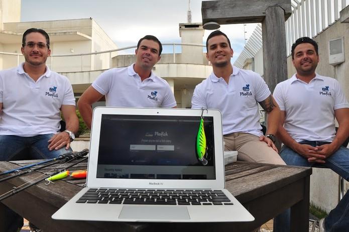 Elton, Rodrigo, Assaf e Jaime, os criadores da Phofish (Foto: Divulgação/Phofish)