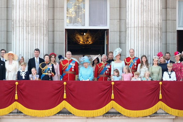 A família real no dia do aniversário da Rainha Elizabeth 2ª (Foto: Getty Images)