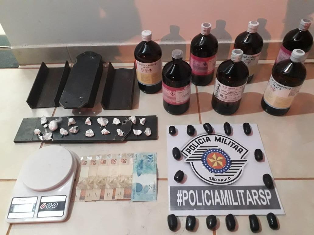 Após fiscalização de trânsito, Polícia Militar apreende cocaína e produtos químicos em Flórida Paulista; veja VÍDEO