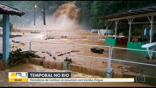 Valão Dantas é monitorado e Cambuci, RJ, segue em estágio de alerta