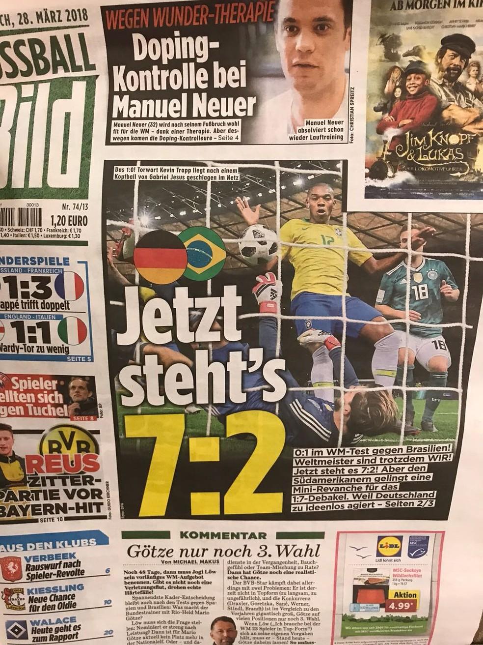 "Jornal alemão ""Bild"" provoca outra vez (Foto: Alexandre Lozetti)"