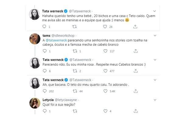 Tatá Werneck conversa com fãs no Twitter (Foto: Reprodução)