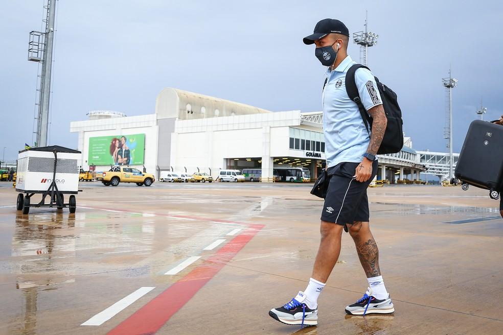 Matheus Henrique deve ser titular do Grêmio em Goiânia — Foto: Lucas Uebel/Grêmio