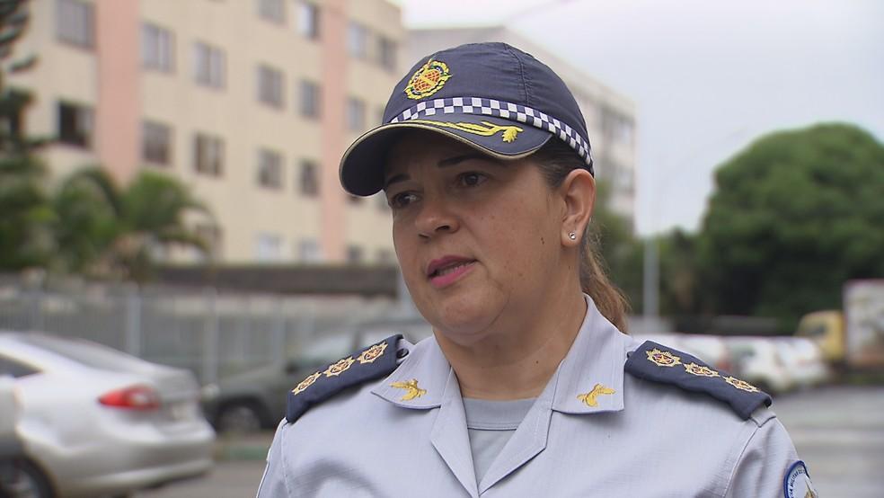 Coronel da Polícia Militar do DF Sheyla Soares Sampaio — Foto: TV Globo/Reprodução