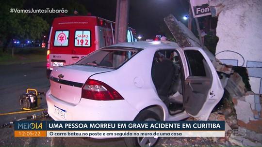 Uma pessoa morre e outras duas ficam feridas em grave acidente em Curitiba
