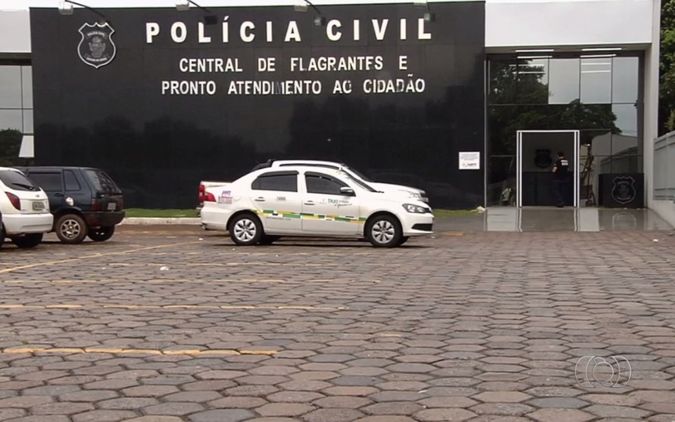 Central de Flagrantes, Goiânia — Foto: Reprodução/ TV Anhanguera