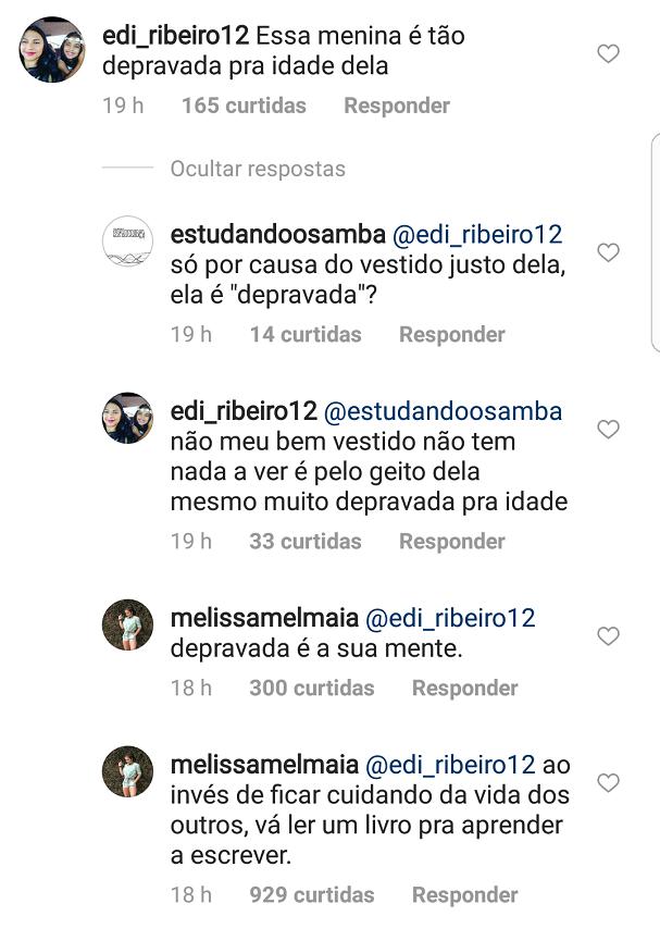 Mel respondeu uma seguidora (Foto: Instagram/Reprodução)