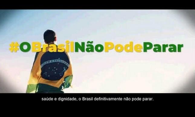 """Campanha """"O Brasil não pode parar"""""""