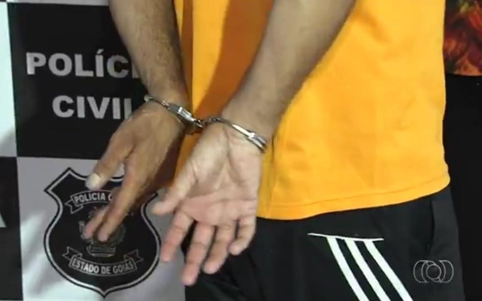 Homem de 33 anos é preso suspeito de estuprar jovem de 18 anos em Aparecida de Goiânia (Foto: Reprodução/TV Anhanguera)