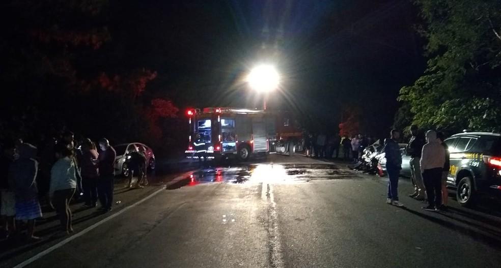 Colisão aconteceu na BR-158, em Itaara. — Foto: Polícia Rodoviária Federal/Divulgação