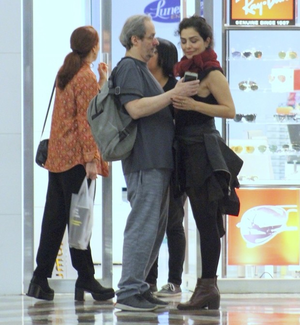 Letícia Sabatella e Daniel Dantas (Foto: Rodrigo Adao / AgNews)