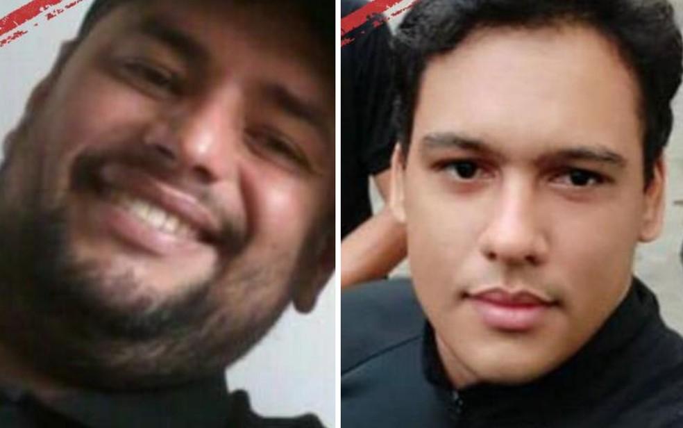 Leandro Santana Rezende Chaves e Túlio Rosa da Silva são procurados pela polícia de Pontalina — Foto: Polícia Civil/Divulgação