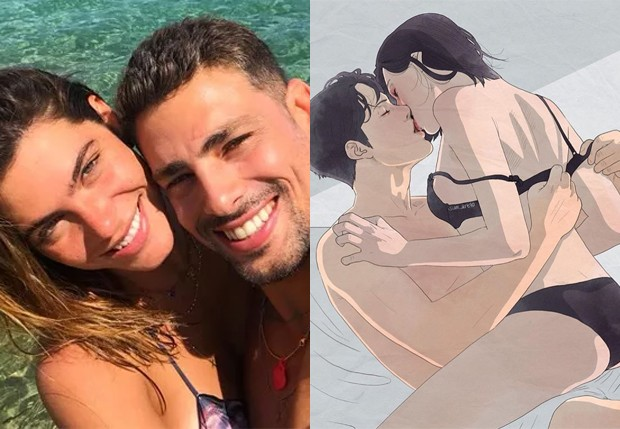 Cauã Reymond posta foto hot e marca Mariana Goldfarb (Foto: Reprodução/Instagram)