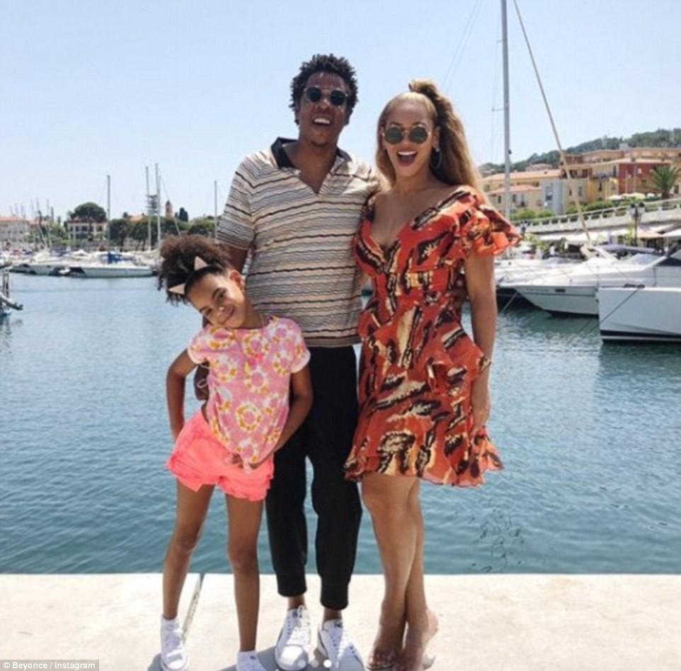 Beyoncé, Jay-Z e Blue Ivy (Foto: Instagram)