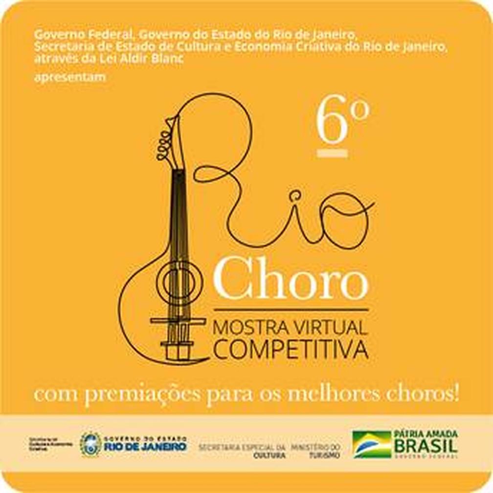 6ª edição do Rio Choro será realizada em formato de mostra virtual — Foto: Divulgação