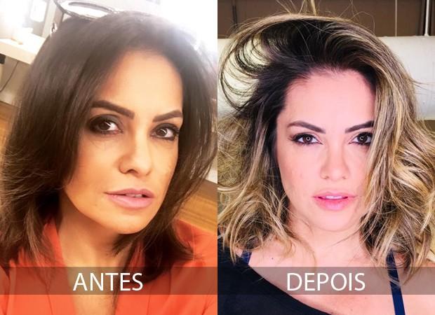 Antes e depois de Renata Brás (Foto: Divulgação)