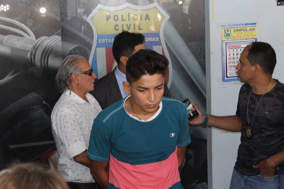 Matheus Rogério confessou o assassinato de Fernanda Caroline, conhecida como 'Barbie' — Foto: Carolina Diniz