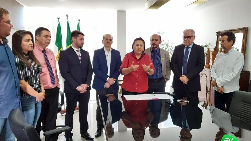 Anúncio de recuperação da malha viária foi feito nesta quinta-feira (5) pelo Governo do RN — Foto: Sérgio Henrique Santos/Inter TV Cabugi