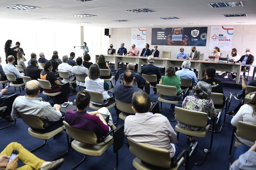 Governo do RN lança programa de incentivo ao esporte — Foto: Elisa Elsie