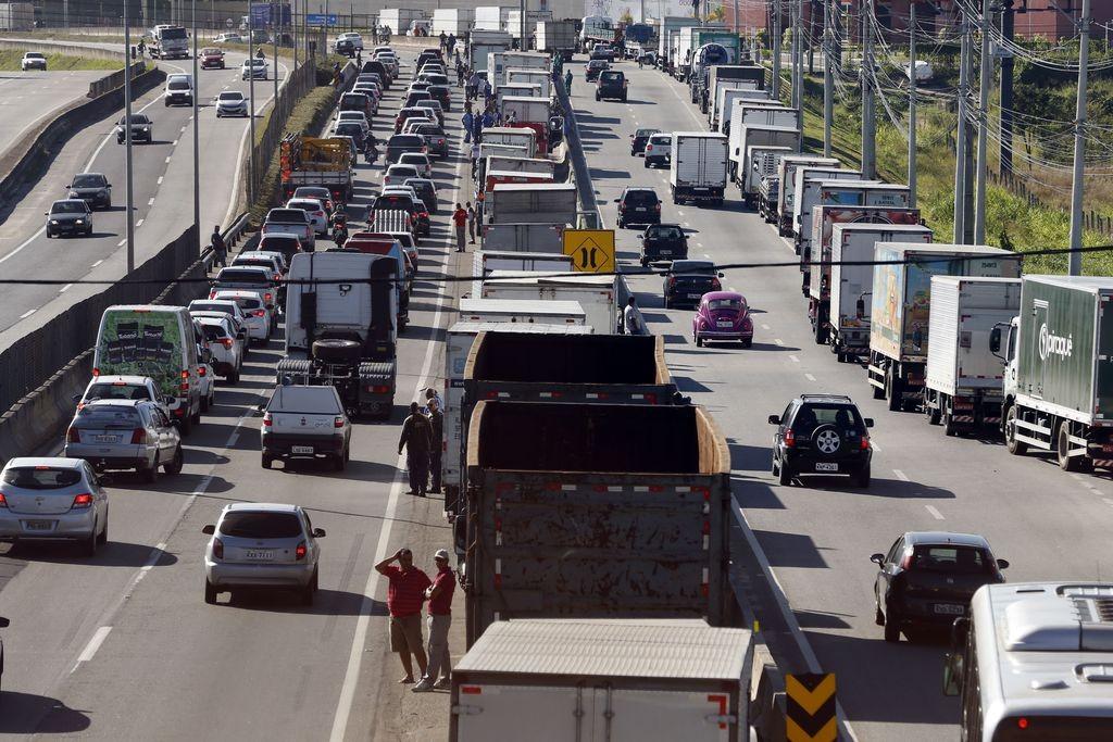 paralisação - caminhoneiros - caminhão - greve - manifestação (Foto: Tomaz Silva/Agência Brasil )
