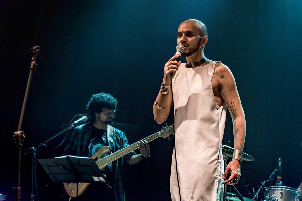 Festival Rock na Calçada conta com apresentação de Lucas Torres, no Recife (Foto: Manu Leite/Divulgação)