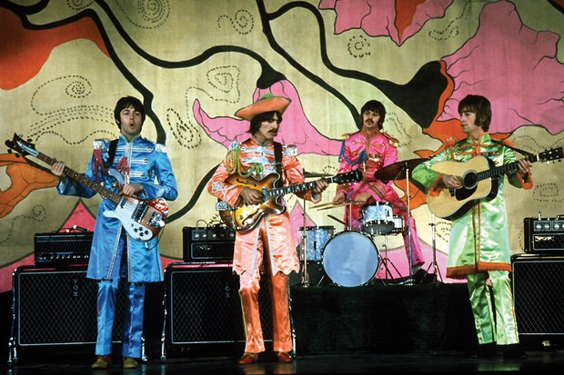 Os Beatles em Hello GoodBye, de 1967 (Foto: Apple Corps Ltd)