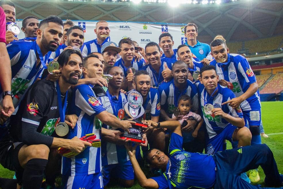 São Raimundo foi campeão da segunda edição da Série B em 2017 (Foto: Fabricio Carvalho)