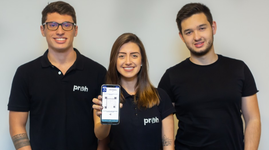 Pietro Maués, Bruna Reis e Lucas Mengarda, fundadores da PROH (Foto: Divulgação)