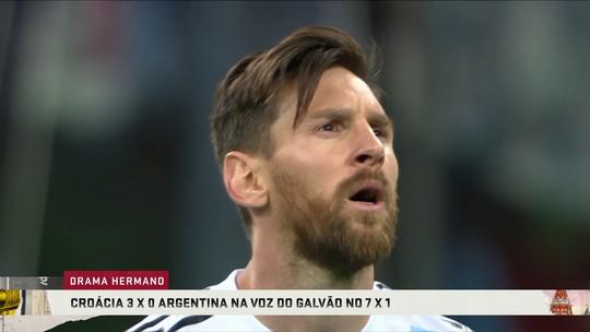 Veja Argentina 0 x 3 Croácia na narração do Galvão no 7 a 1