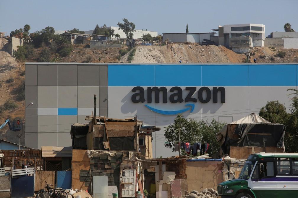 Novo centro de distribuição da Amazon em Tijuana, no México — Foto: Jorge Duenes/Reuters