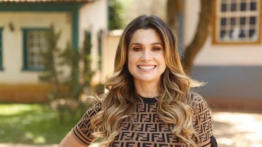 Flávia Alessandra conta que se diverte com Otaviano Costa ao ver cenas picantes de Rita em 'O Sétimo Guardião'