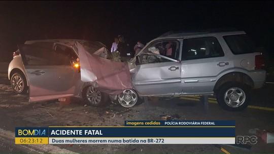 Duas mulheres morrem em acidente na BR-272, em Janiópolis