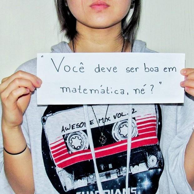 """Fotos do trabalho """"Estigma e preconceito anti-amarelo no Brasil"""" (Foto: Reprodução/Facebook)"""