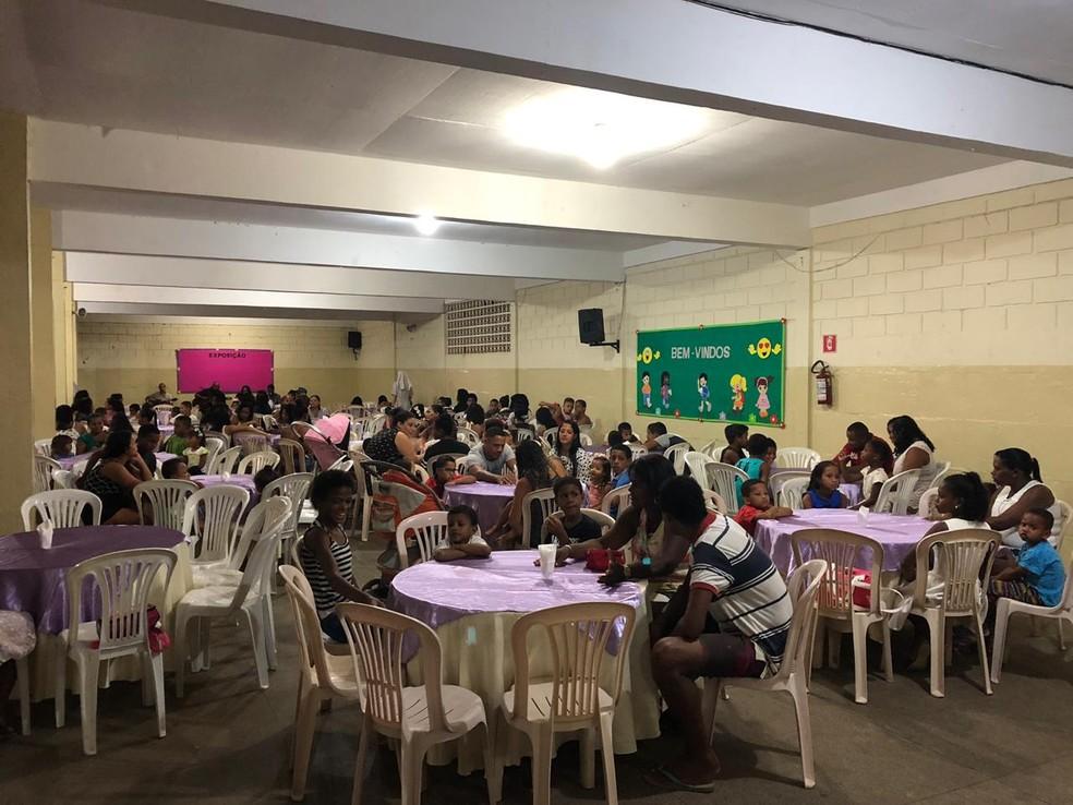 Jantar foi oferecido para 160 pessoas — Foto: Ana Paula Meriguete/ Arquivo Pessoal