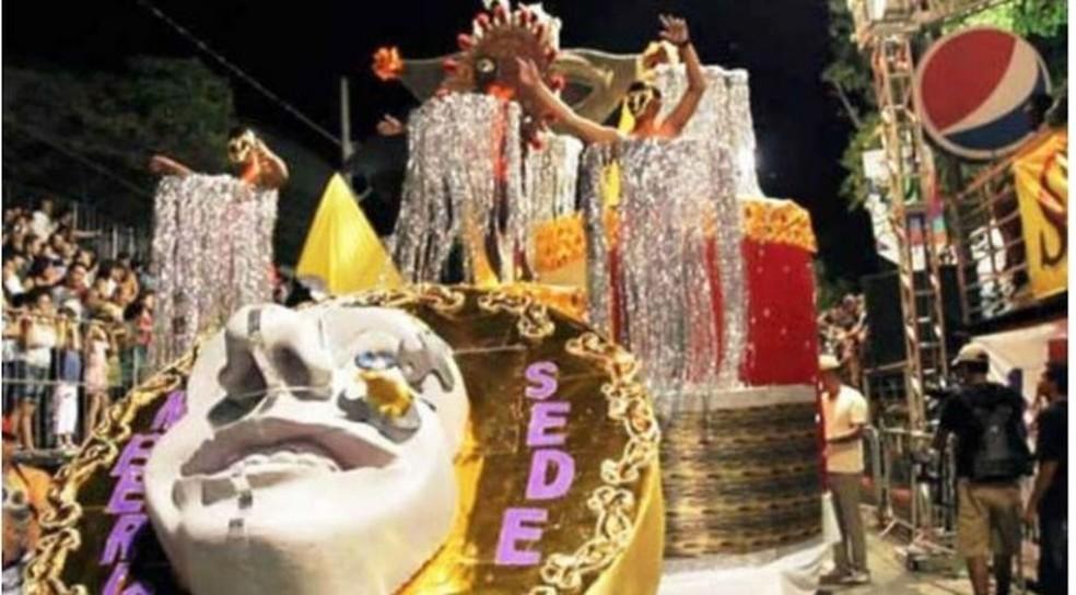 Grande atração do carnaval em Timóteo é a Escola de Samba Império da Sede — Foto: PC Reis/Arquivo pessoal