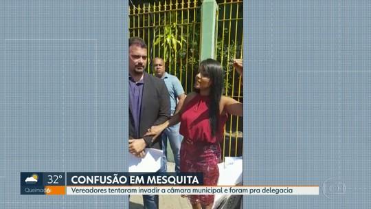 Vereadores de Mesquita, RJ, brigam na porta da Câmara e vão parar na delegacia
