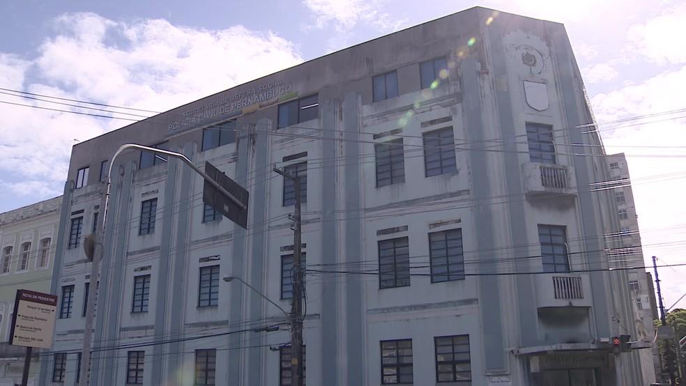 Operação Carrascos foi deflagrada pela Polícia Civil de Pernambuco, cuja sede fica na Rua da Aurora, no Centro do Recife — Foto: Reprodução/TV Globo