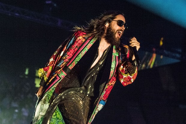 Jared Leto em show do 30 Seconds to Mars (Foto: Getty Images)