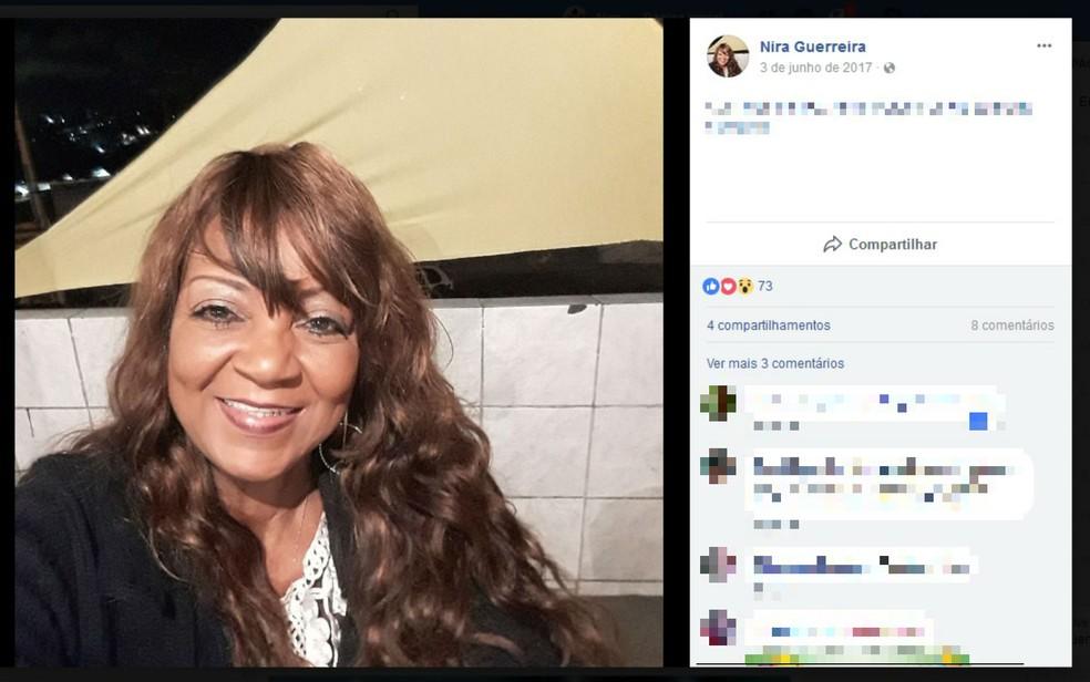 Cantora Nira Guerreira está internada em hospital da capital baiana para tratar câncer (Foto: Reprodução/Facebook)
