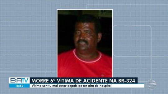 Morre sexta vítima da batida entre micro-ônibus e caminhão em rodovia da Bahia