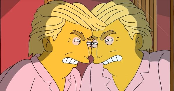 O presidente dos EUA, Donald Trump, no especial de Os Simpsons divulgado na internet (Foto: Reprodução)