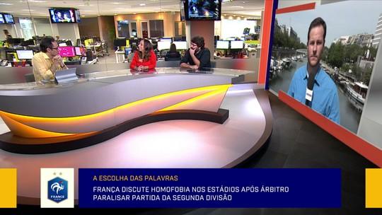 """Redação discute paralisação de jogo por gritos homofóbicos: """"Homofobia é diferente de palavrão"""""""