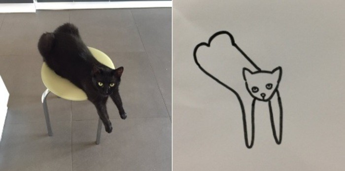 Poorly drawn cat (Foto: @poorlydrawncat / Twitter)