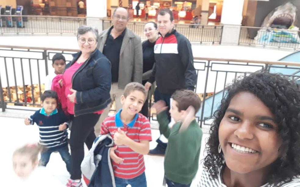Família Guimarães completa em passeio (Foto: Reprodução/Arquivo Pessoal)