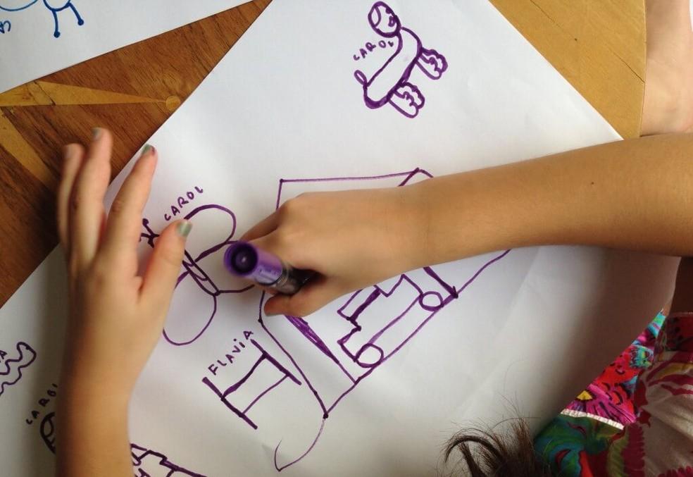 Desenho sem tirar o lápis do papel — Foto: tempojunto.com