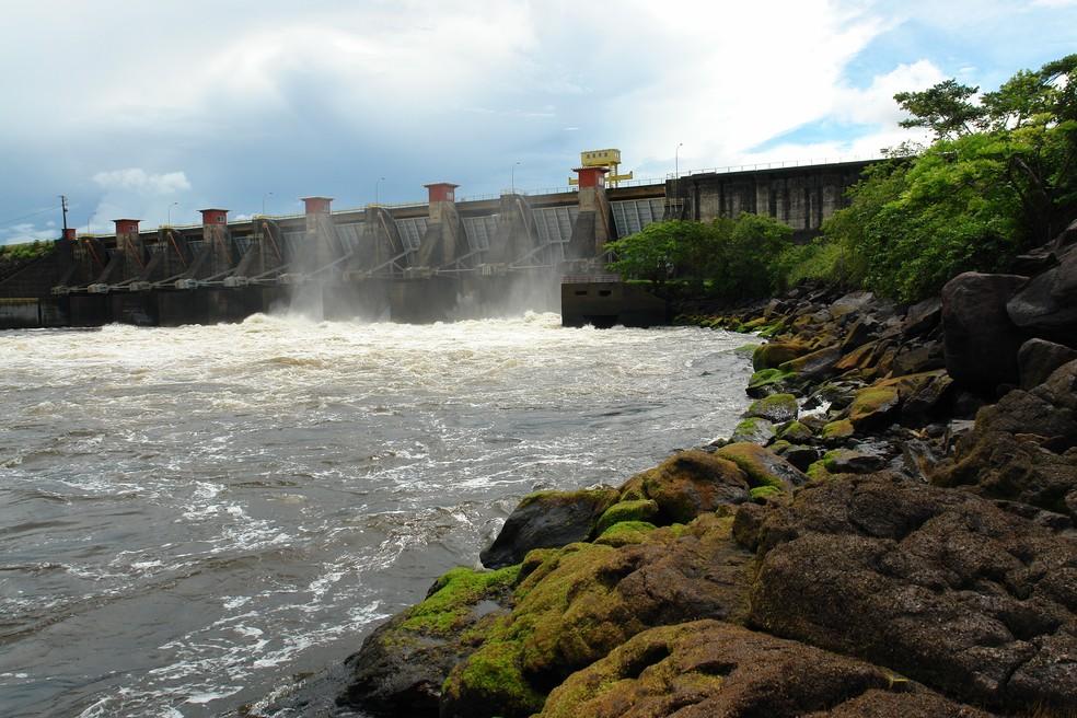 Usina Hidrelétrica Coaracy Nunes, no interior do Amapá — Foto: Eletronorte/Divulgação