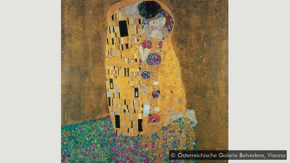 'O beijo' — Foto: Österreichische Galerie Belvedere, Viena